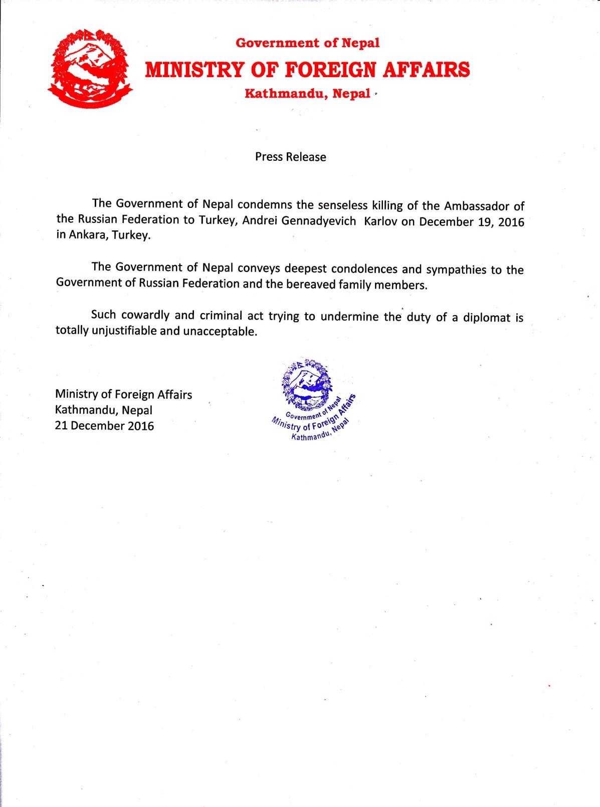 press-release-on-killing-of-russian-ambassador